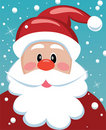 Xmas illustration of santa Royalty Free Stock Photo