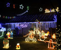 Xmas lights display for charity clayton brook chorley lancashire uk Royalty Free Stock Photo