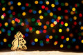 Xmas lights stars, Christmas tree, vintage decoration and copy s Royalty Free Stock Photo