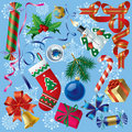 Xmas & New-Year's decorations Stock Photography