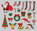 Xmas objects hand drawing illustrations Stock Image