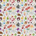 Xmas seamless pattern Stock Images