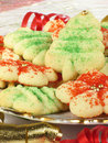 Xmas Spritz Cookies Royalty Free Stock Images