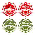 Xmas tag in english and spanish Royalty Free Stock Image