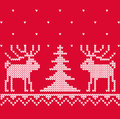 Xmas texture with deep for knitting christmas background Royalty Free Stock Photo