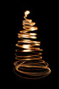 Xmas tree in the dark night christmas decorations Stock Photo