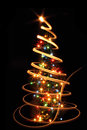 Xmas tree in the dark night christmas decorations Royalty Free Stock Photography