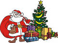 Xmas tree santa claus Royalty Free Stock Photography
