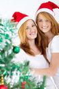 Xmas twins Royalty Free Stock Photos