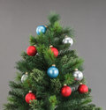 Xmass tree decorated with color bubbles christmas Stock Photography