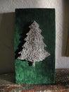 Xmass tree nails Royalty Free Stock Photo