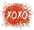 XOXO Greeting Card. Hugs and Kisses