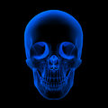 Xray of human skull head isolated x ray on black background front view Stock Photos
