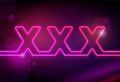 XXX neon signboard Royalty Free Stock Photos