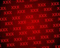 Xxx red on a background Royalty Free Stock Images