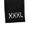 XXXL size clothing label tag, black isolated Royalty Free Stock Image