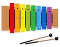 Xylophone C Major Scale Rainbow Colored