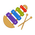 Xylophone cartoon vector illustration of a Royalty Free Stock Photography