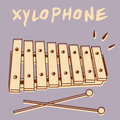Xylophone illustrations of a retro style Stock Photo