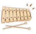 Xylophone isolated illustrations of a on white background Stock Photos
