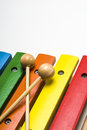 Xylophone this photo shows a toy closeup Royalty Free Stock Photos