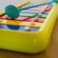 Xylophone a small for children in the scale of c Royalty Free Stock Images