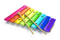 Xylophone on white d render Stock Images
