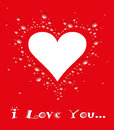 Y love you valentines day illustration on a red background Stock Photo