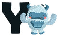 Y for yeti the letter the word Stock Photography