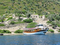 Yacht in the aegean sea Royalty Free Stock Images