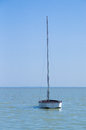 Yacht at Balaton lake Royalty Free Stock Photo