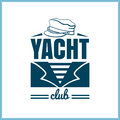 Yacht Club Badge With Hat