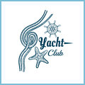 Yacht Club Badge With Starfish