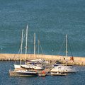 Yacht club in balchik on the black sea coast bulgaria Royalty Free Stock Images