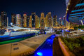 Yacht club in dubai marina Stock Photo