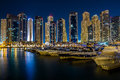 Yacht club in dubai marina Stock Image
