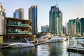 Yacht club in dubai marina uae november was the fastest developing city the world between and Royalty Free Stock Images