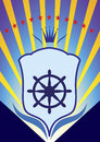 Yacht club emblem vector illustration Royalty Free Stock Photography