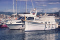 Yacht club luxury yachting in catalonia costa brava spain Stock Image