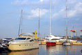 Yacht club marine in the port of odessa Royalty Free Stock Photo