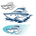 Yacht Emblem set Royalty Free Stock Photo