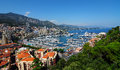 Yacht harbour from monaco city at the mediterranean sea southern france aerial view Royalty Free Stock Photo
