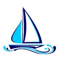 Yacht icon vector  illustration Royalty Free Stock Photos