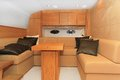 Yacht living room luxurious wood furnished in Royalty Free Stock Image