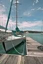 Yacht in Marina Stock Photos