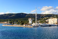 Yacht marina at harbour Puerto Portals in Portals Nous and Mediterranean Sea, Majorca Royalty Free Stock Photo