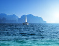 Yacht and ocean krabi province thailand Stock Photos