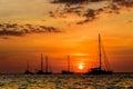 Yacht in ocean Royalty Free Stock Photo