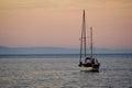 Yacht off Cushendall Beach