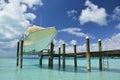 Yacht pier exuma bahamas island Royalty Free Stock Photography